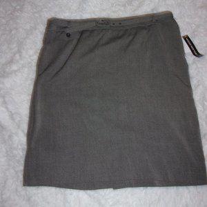 Nwt Briggs New York Sz 18 Gray Tweed Pencil Skirt